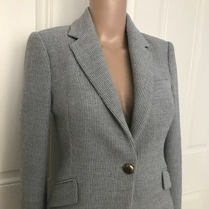 NWOT Zara Woman Fitted Stretch Woven Knit blazer S